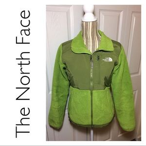 The North Face Denali fleece jacket in lime green